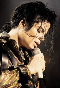 on stage MJ